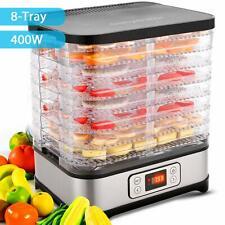 Electric Food Dehydrator Machine 8 Trays/400W/with timer/LCD Display Screen/B...