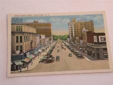 VINTAGE POSTCARD SOUTH MAIN STREET HIGH POINT NC WHITE BORDER