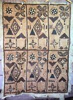 Vintage Authentic Tongan Ngatu or Samoan Siapo Tapa Bark Cloth Primitive 810058