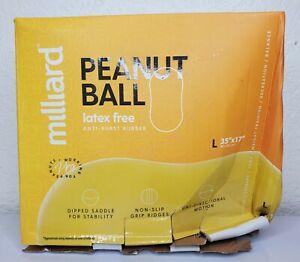 Milliard Peanut Ball Yellow 35x17 inch 90x45cm Latex Free Anti Burst Rubber
