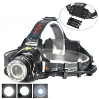 Rechargeable Zoomable LED Headlamp Rechargeable Headlight XML T6 Head Torch 500m