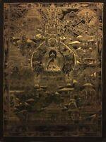 Rare Genuine MasterPiece Tibetan Buddha Life  thangka thanka Painting Buddha