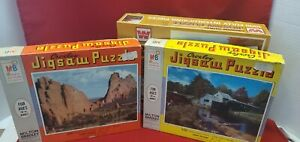 Vintage Whitman Crown Guild and MB Croxley Puzzles Lot of 3