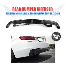 Carbon Fiber Rear Bumper Diffuser Lip For BMW F10 528i 535i 550i M-Tech 2012-16