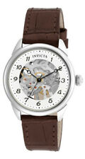 Invicta Specialty 17198 Women's Round Mechanical Analog Brown Leather Watch