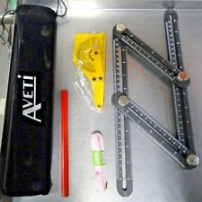 Aveti Template Tool Set With Other Measuring Tools Pencil And Carry Case New