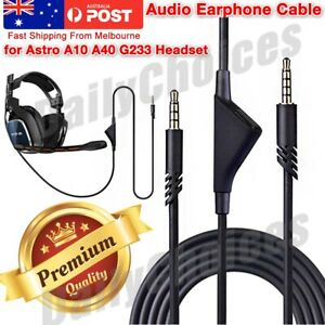 For Astro A10 A40 Replacement Gaming Headset Audio Mute Cable Aux Cord 2M 3.5mm