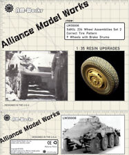 Alliance Model Works 1:35 Sd.Kfz. 234 Wheels w/ Brake Drums Set 2 #LW35006