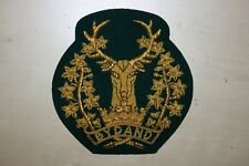 SUPERB QUALITY SCOTTISH GORDON HIGHLANDERS PIPE MAJOR RANK ARM BADGE #1