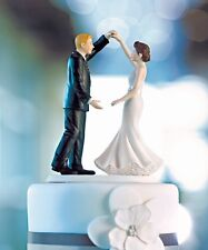 Dancing the Night Away Wedding Bride Groom Couple Cake Topper Figurine Romantic