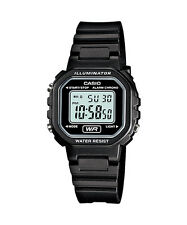 Casio Women's Digital Black Resin Watch, Chronograph, LA20WH-1A