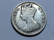 1896 GREAT BRITAIN HONG KONG TEN CENT BETTER GRADE COIN