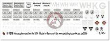 Peddinghaus 1/35 German Transport Truck License Plates & Tactical Markings 1218