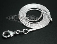 """Wholesale 10~100PCS 2MM Silver Snake Chain Jewelry Necklace 16"""" 18"""" 20"""" 22"""" 24"""""""