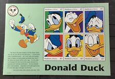 Maldive Islands # 2353. Souvenir Sheet. Disney'S Donald Duck. Mnh