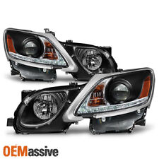Fits 2006-2011 Lexus GS300 GS350 Xenon HID Type LED Strip w/DRL Black Headlights