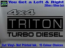 TRITON stickers accessories Ute MX Funny decal 4x4 TURBO DIESEL 200mm PAIR