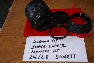 Sigma AF Super Wide II 1:2.8 24mm Autofocus Lens for Minolta A / Sony A