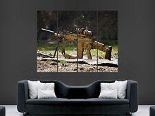 Cartel De Rifle Pistola Arma Camuflaje Ejército impresión automática de imágenes grandes enormes
