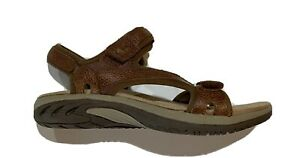 Earth Spirit Gelron 2000 Womens Dewberry Brown Leather Sport Sandals Size 9 1/2