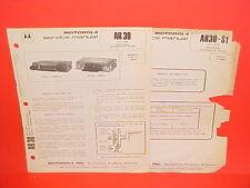 1975 MOTOROLA CAR AUTO AM RADIO SERVICE SHOP REPAIR MANUAL TM84A 5TM81A-1 5TM85A