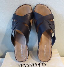 New ListingST JOHNS BAY Sandals BRYNN Black Leather Womens Size 10 New  Condition