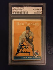 Don Larsen Autograph 1958 Topps #161 Signed Yankees PSA/DNA Certified Authentic