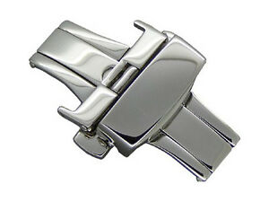 12mm Stainless Steel Butterfly Deployment Clasp for watch straps bands