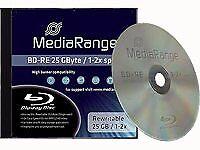 Blu-ray Bd-re SL 25gb 2x Mediarange (regrabable) caja Jewel 1 UDS