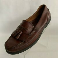 Bass Strout Loafers Moc Toe Tassel Kiltie Brown Leather Slip On Shoes Size 12M
