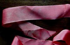 MERCERIE RUBAN vieux rose 80cmx6.5cm@RUBBON