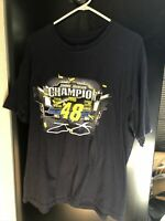 Jimmie Johnson # 48 NASCAR 2016 Sprint Cup Series Champion T-Shirt-Navy Size XL