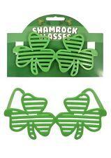 Irish Shutter Shamrock Glasses St Patrick's Day Fête Event Novelty