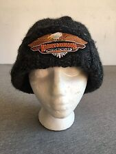 HARLEY DAVIDSON Hat Wool Knit Stocking Cap Beanie Patch Biker Motorcycle Winter