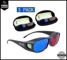 BIAL Red-Blue 3D Glasses With Glasses Case/Cyan Anaglyph Simple Style 3D Glasses