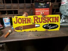 Original Porcelain JOHN RUSKIN Cigar Tobacco Sign  Lighter cigaret store