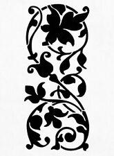 Vine Flower Stencil Durable & Reusable Plastic Stencils 7x5