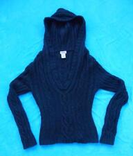 LIPSTICK Brand ~ Black Hoodie Hooded Sweater ~ Size Juniors SMALL S