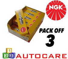 NGK Replacement Spark Plug set - 3 Pack - Part Number: BKR6EKE No. 5649 3pk