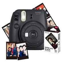 Fujifilm Instax Mini 9 Camera Black and 10pk of Mini Film (black Frame)
