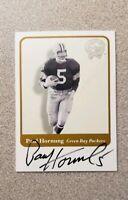 2001 Fleer Greats Of The Game Paul Hornung On Card Auto Packers HOF HOFer