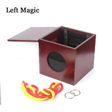 Dean Box (Dean Dill) Magic Tricks Linking RopeS And Ring Box Magic Props Gimmick