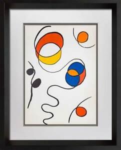 Alexander Calder Original Lithograph, 1968 | Limited Edition | Color w/Frame Inc