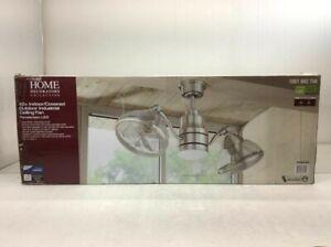 HDC Pendersen 42 in. Integrated LED Indoor/Outdoor Brushed Nickel Ceiling Fan