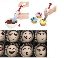 Silicone Plate Pen Cake Cookie Pastry Cream Chocolate Icing Decorating Syringe