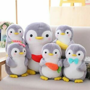 AU Penguin Stuffed Animal Plush Soft Toy Cute Doll Pillow Cushion Kids Gift