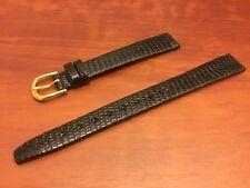 NEW SPEIDEL WATCH BAND BRACELET -  Genuine Lizard 13mm Black