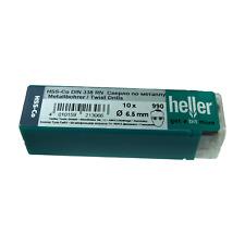 Heller 6.5mm Brocas HSS Cobalto Metal 10 Pack HSS-Co-calidad De Herramientas Alemanas