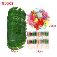 85 Table Decorations Supplies Moana Themed Party Tropical Luau Hawaiian Leaves