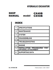 Heavy equipment manuals books for sale ebay case cx40b cx50b cx 40b 50b service repair workshop manual in 3 ring binder fandeluxe Choice Image